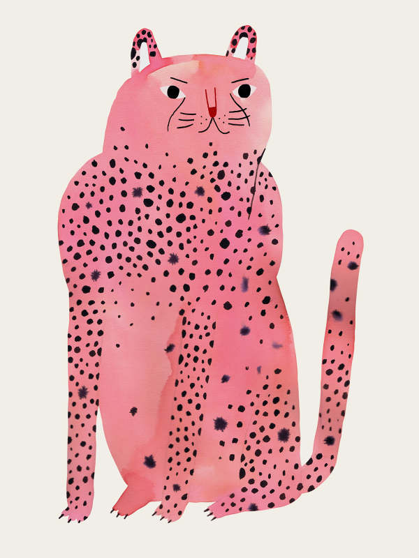Pink panther illustration