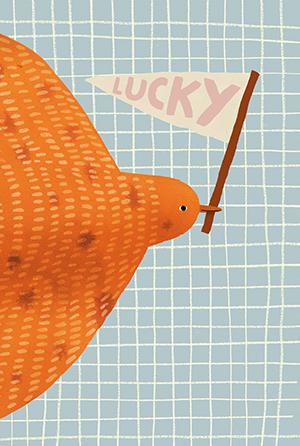 Lucky Bird card